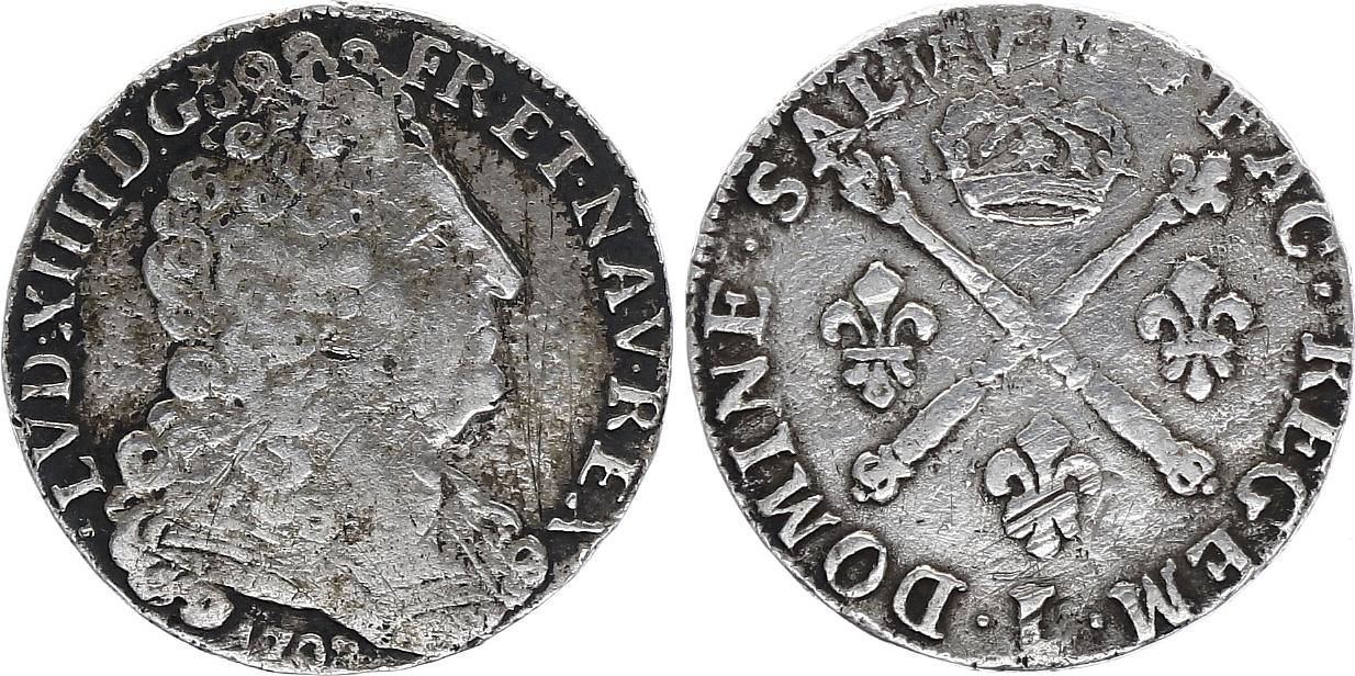 France 20 Sols Louis XIV - 1708 L Bayonne - Argent