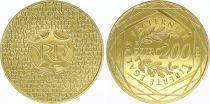 France 200 Euro Or - Euro des Régions - 2012 -   Neuf