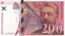 France 200 Francs - Eiffel Tower - 1995 - Small Nº A000001138 - Signed by Artist R. Pfund