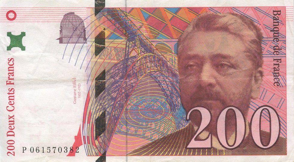 France 200 Francs Gustave Eiffel - Eiffel Tower