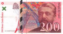 France 200 Francs Gustave Eiffel 1996 - Eiffel Tower - Various serials - VF