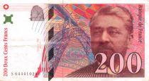France 200 Francs Gustave Eiffel 1997 - Serial S.044 - VF+