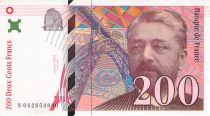 France 200 Francs Gustave Eiffel 1999 - Eiffel Tower - VF+