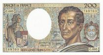 France 200 Francs Montesquieu - 1981 - Serial C.005 - UNC