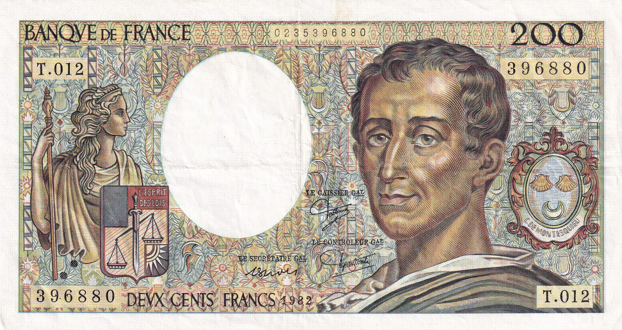 France 200 Francs Montesquieu - 1982 - T.012 - TTB