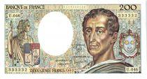 France 200 Francs Montesquieu - 1987 Serial U.46