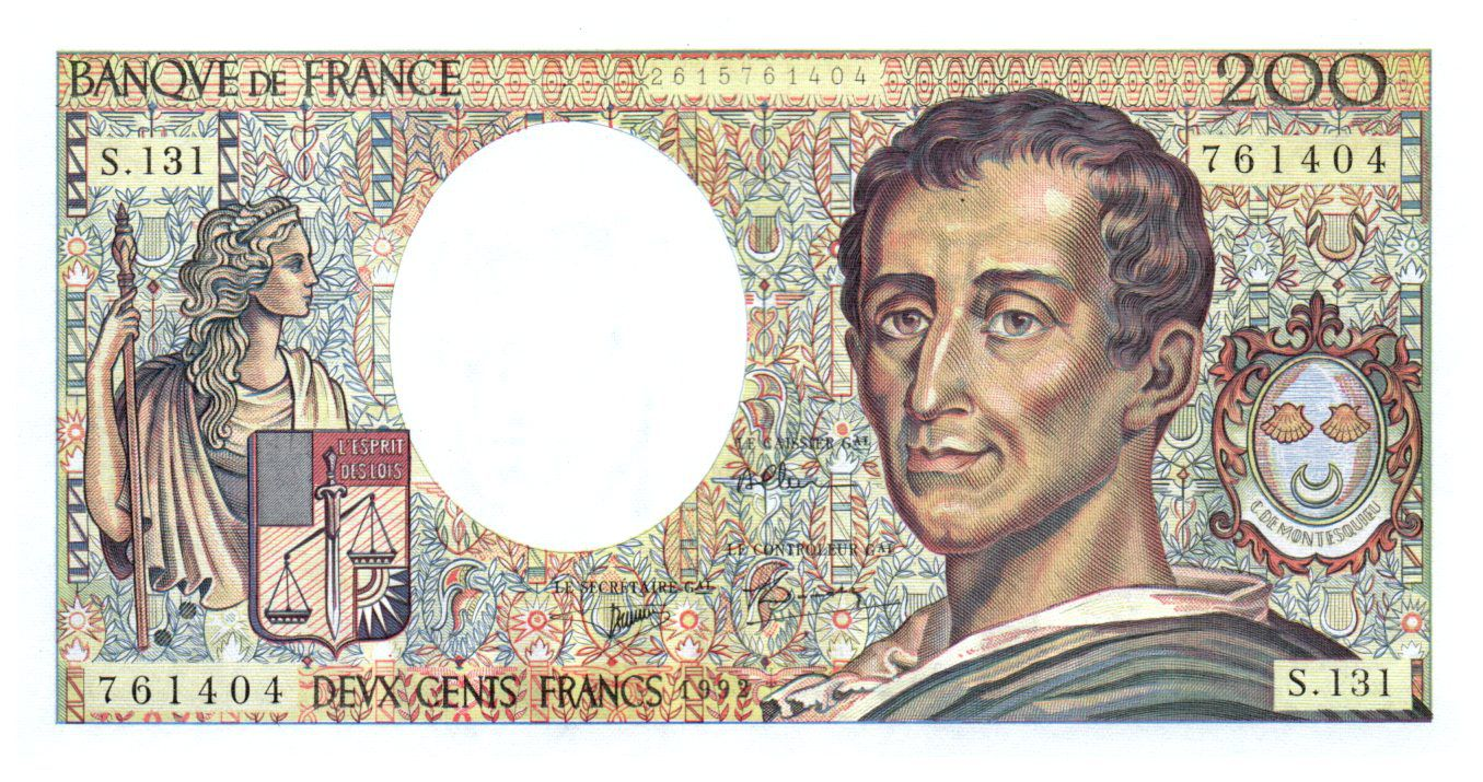 France 200 Francs Montesquieu - 1992 - Série S.131 - NEUF