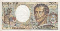 France 200 Francs Montesquieu 1985 - Serial B.033