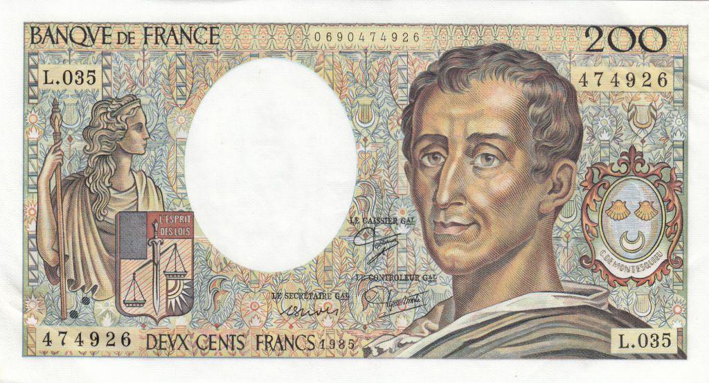 France 200 Francs Montesquieu 1985 - Série L.035
