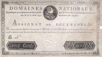 France 200 Livres Louis XVI - 19 Juin et 12 Sept. 1791 - Série B - 2ème exemplaire
