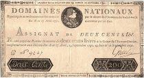 France 200 Livres Louis XVI - 19 Juin et 12 Sept. 1791