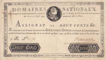 France 200 Livres Louis XVI - 30-04-1792 Série 2K - Sign. Marcilly - TTB+
