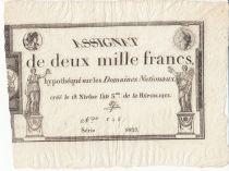 France 2000 Francs 18 Nivose An III - 7.1.1795 - Sign. Aze