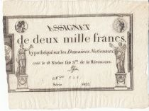 France 2000 Francs 18 Nivose An III - 7.1.1795 - Sign. Aze