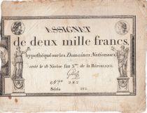 France 2000 Francs 18 Nivose An III - 7.1.1795 - Sign. Gilles - PTTB
