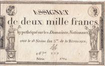 France 2000 Francs 18 Nivose An III - 7.1.1795 - Sign. Sal - PSUP