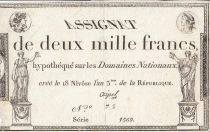 France 2000 Francs 18 Nivose Year III - 7.1.1795 - Sign. Coipel