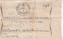France 24 Sols  Loterie des Enfans Trouvés - Sous Louis XV (1715-1744) - TTB