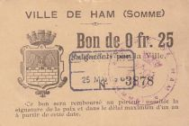France 25 cent. Ham
