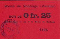 France 25 cent. Montaigu