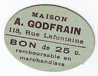France 25 cent. Paris Maison A GODFRAIN