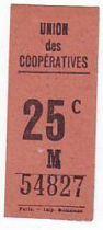 France 25 cent. Paris Union des coopératives