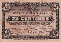 France 25 cent. Roubaix-Tourcoing - 16/12/1916