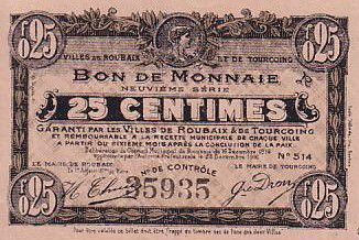 France 25 cent. Roubaix-Tourcoing
