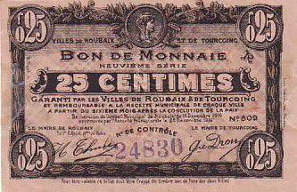 France 25 cent. Roubaix-Tourcoing