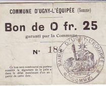 France 25 cent. Ugny-L´equipee
