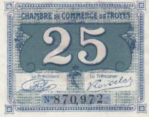 France 25 Centimes  - Troyes Chamber of Commerce 1918 - aUNC