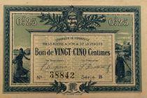 France 25 Centimes - Chambre de Commerce de La Roche-sur-Yon 1916 - TTB