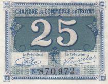 France 25 Centimes - Chambre de Commerce de Troyes 1918 -  p.Neuf
