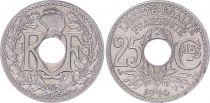 France 25 Centimes,  Monogram RF - 1914 - AU