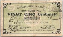 France 25 Centimes Anor City - 1915