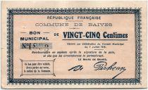 France 25 Centimes Baives City - 1915