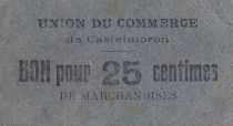France 25 Centimes Castelmoron Union du commerce