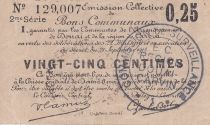 France 25 Centimes Douai Commune - 1916