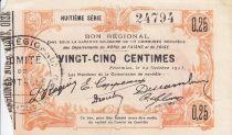 France 25 Centimes Fourmies City - 1915