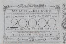 France 25 Centimes Grande Loterie Immobilière St Point et Monceaux - 1862 - TTB