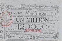 France 25 Centimes Grande Loterie Immobilière St Point et Monceaux - 1862 - VF
