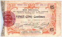 France 25 Centimes Laon Régional - 1915
