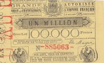 France 25 Centimes Loterie de Chatearoux - 1868 - TTB - 2nde ex