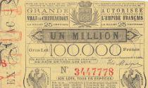 France 25 Centimes Loterie de Chatearoux - 1868 - TTB