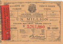 France 25 Centimes Loterie Parc et Jardin de Bordeaux - 1864 - VF