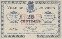 France 25 Centimes Louviers Emission municipale