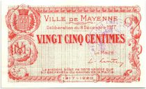 France 25 Centimes Mayenne City - 1917