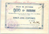 France 25 Centimes Mayenne City