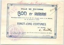 France 25 Centimes Mayenne City