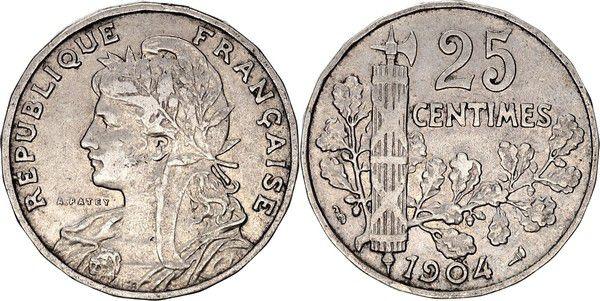 France 25 Centimes Patey - 1904
